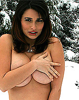 Teen sweetie playing in the snow