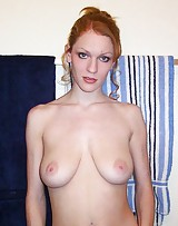 Sexy amateur pops her big tits out and caught on film.
