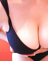 Busty gf plays with her big boobs cause they love the dick.