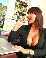 Horny hot ass big tits office babe nailed hard against the desk hot fuck pics